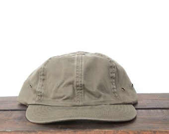 2612dca9f73c Vintage 90 s Blank Olive Green Mac Demarco Style Unstructured Strapback Low  Profile Hat Baseball Cap