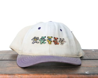 26b5982800ea9 Vintage Distressed 90 s Snapback Hat Baseball Cap Grateful Dead Dancing  Bears Steal Your Face Jerry Garcia Jam Band Music Concert Show