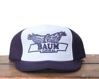 5e16f87613649 Trucker Hat Vintage Snapback Hat Baseball Cap Baum Chevrolet Car Dealership  Chevy GM Eagle Made In USA xrz