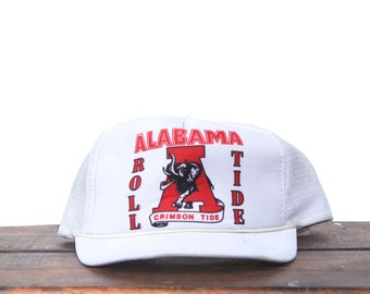 80705fd1d35dfe Vintage New University Of Alabama Crimson Tide Roll Tide Bama Football  Snapback Trucker Hat Baseball Cap