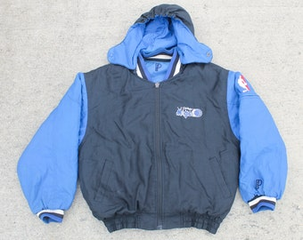 d04f7d11062 Vintage Classic 90 s Reversible Pro Player Orlando Magic Basketball NBA  Insulated Jacket Coat Size Medium