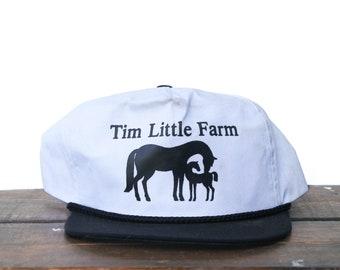 331f5a14810cf Vintage Tim Little Farm Horses Ponies Trucker Hat Snapback Baseball Cap xrz