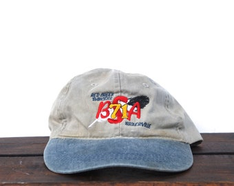 Vintage 90 s Hat Cap Unstructured Strapback Baseball Cap Red Creek BSA  Troop 71 Camping Hiking Boy Scouts Camp Feather c18fcd63badd