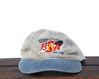 4e3131d5e7c Vintage 90 s Hat Cap Unstructured Strapback Baseball Cap Red Creek BSA  Troop 71 Camping Hiking Boy Scouts Camp Feather