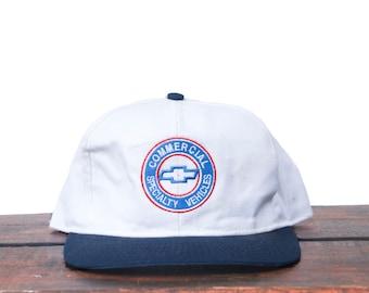 5919414b2687d Vintage 90 s Hat Cap Chevrolet Chevy Trucks Cars Commercial Specialty  Vehicles Bowtie Logo Snapback Hat Baseball Cap pxq