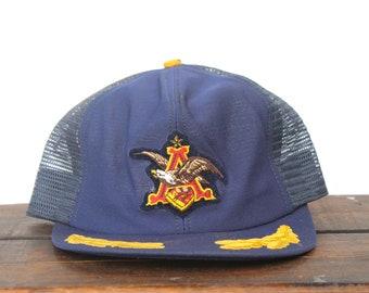 d0e9ee95571 Vintage Anheuser Busch Brewery Budweiser Beer Bud Light Michelob Snapback  Trucker Hat Baseball Cap USA Made pxq