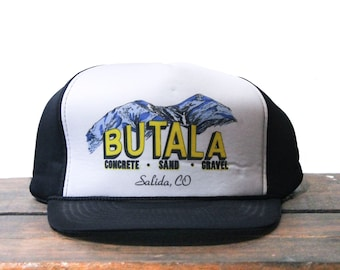 Vintage Trucker Hat Snapback Baseball Cap Burger Bear Salida Colorado Restaurant Burgers Food