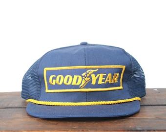 Classic Vintage Goodyear Tires Car Racing Nascar Trucker Hat Snapback  Baseball Cap Patch Made In USA 050da7ec9c31