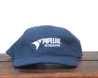 6967e02da0c Vintage 90 s Hat Cap Pipeline Petroleum Gas Gasoline Fuel Strapback Hat  Baseball Cap