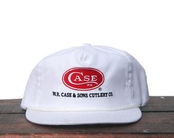 063356063da Vintage Trucker Hat Strapback Baseball Cap W.R Case XX Cutlery Co Hunting  Pocket Knives