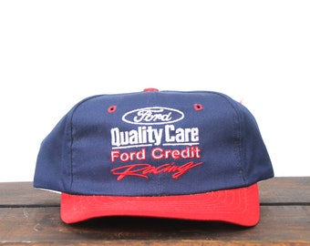 Vintage Trucker Hat Snapback Hat Baseball Cap 90 s Dale Jarrett Ford  Quality Care Racing Team Nascar Made In USA 0b76e597887c