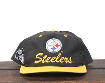 b5f9259cf44 Vintage 90 s Pittsburgh Steelers Football NFL Hat Snapback Baseball Cap pxq