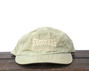 d9b469a1 Vintage 90's Hat Cap Shooters Ft Lauderdale Florida Waterfront Restaurant  Unstructured Strapback Hat Baseball Cap