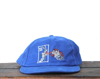 fb9c5d76cfaa Vintage 90's Looney Tunes Bugs Bunny Taz Tazmanian Devil Postage Stamp USPS  Snapback Hat Baseball Cap