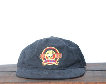 95e07c4d618 Vintage 90 s Looney Tunes Tweety Bird US Mail Postage Stamp USPS  Unstructured Snapback Hat Baseball Cap