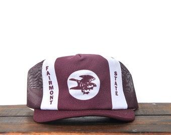 f9f3f487bdfce Vintage Fairmont State University College Sports NCAA West Virginia  Snapback Trucker Hat Baseball Cap pxq