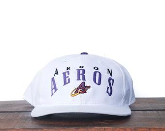 f6e60a2b1ecac Vintage 90 s Akron Aeros Ohio Minor League Team MILB Snapback Hat Baseball  Cap pxq
