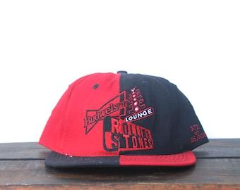 Vintage 90 s Hat Cap Rolling Stones Voodoo Lounge Tour Budweiser Beer Strapback  Hat Baseball Cap 65affdf6abcf