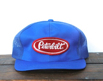Vintage Trucker Hat Snapback Hat Baseball Cap Peterbilt Semi Trucks Tractor  Trailer Big Rig 18 Wheeler Patch Patch baf00c3c59aa