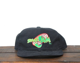 8464f387473fcb Vintage 90 s Small Space Jam Michael Jordan Looney Tunes Cartoon Movie Snapback  Hat Baseball Cap