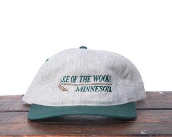 3b46e7ccace2a Vintage 90 s Hat Cap Snapback Hat Baseball Cap Lake Of The Woods Minnesota  Outdoors
