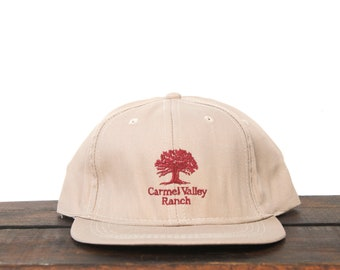 93692704cf41f Vintage Trucker Hat Strapback Hat Baseball Cap Minimal Carmel Valley Ranch  Luxury California Golf Course Country Club