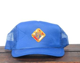 1ea94617 Trucker Hat Vintage Snapback Hat Baseball Cap Knights Of Columbus K Of C  Fraternal Organization Club xrz
