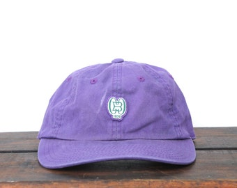412568350fc Vintage 90 s Minimal Purple Country Club Monogram Unstructured Strapback Hat  Baseball Cap xrz