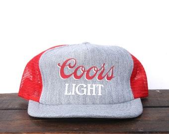 ba755cd8c84 Vintage Deadstock New Coors Light Beer The Silver Bullet Banquet Rockies  Heather Gray Trucker Hat Snapback Back Baseball Cap