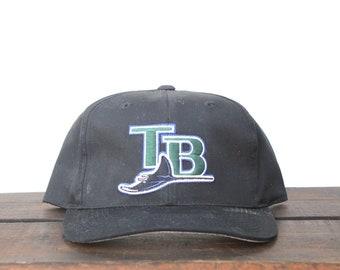 Vintage 90 s Tampa Bay Devil Rays MLB Snapback Hat Baseball Cap 9c18b15ce539