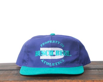 Vintage Purple Turquoise Property Of Busch Beer Athletics Anheuser Light  Party Alcohol Drinking Trucker Hat Snapback Baseball Cap a2abdc9bba9c