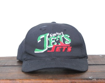 31d26c32083 Vintage 90 s New York Jets Football NFL Snapback Hat Baseball Cap pxq