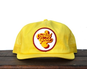 fd51644deceb7 Vintage Cookin  Good Chicken Poultry Meat Food Trucker Hat Snapback  Baseball Cap K Brand Patch