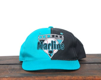 04a24b183204f0 Vintage 90's Florida Miami Marlins MLB Kids Boys Youth Size Baseball Cap  Snapback Hat