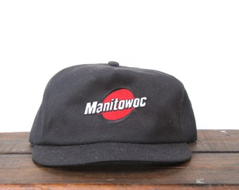 Vintage Manitowoc Cranes Wisconsin Construction Heavy Equipment Made In USA  Trucker Hat Snapback Baseball Cap Patch f0a2ad500