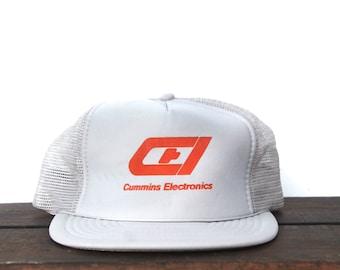 Trucker Hat Vintage Snapback Hat Baseball Cap Cummins Electronics Diesel  Engines Dodge Ram 4cb3af46386c