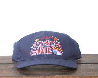 pretty nice 92b85 8eb8e Vintage Atlanta Braves All Star Game MLB Snapback Hat Baseball Cap