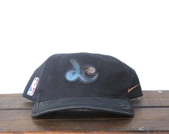 64a71a55c10 Vintage 90 s Nike Washington Wizards Basketball NBA DC Strapback Hat  Baseball Cap
