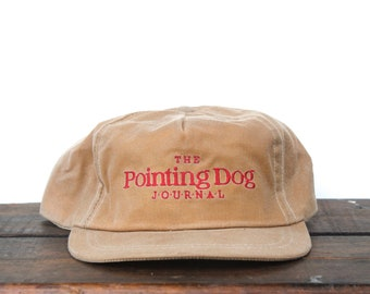 Vintage The Pointing Dog Journal Hunting Magazine Oilcloth Tincloth  Strapback Hat Baseball Cap Made In USA c46959059d4e
