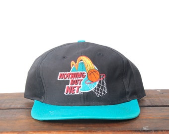 Vintage 90 s Nothing But Net Basketball Mcdonalds Fast Food Burgers Golden  Arches Snapback Hat Baseball Cap df9486ba0e963