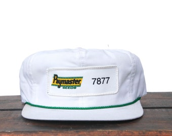 81f30e883a2 Vintage Paymaster Corn Seed Farmer K Brand Products Made In USA Trucker Hat  Strapback Baseball Cap