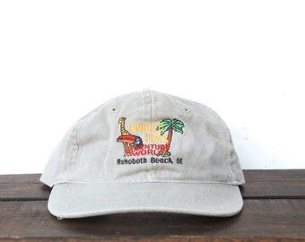 51263373d2c Vintage 90 s Hat Cap Jungle Jim s Adventure World Rehoboth Beach DE Washed  Out Unstructured Strapback Hat Baseball Cap