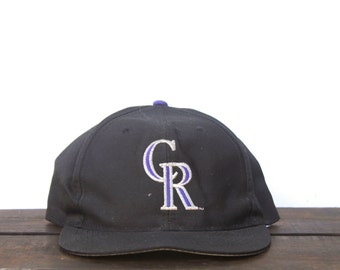 Vintage 90's Colorado Rockies MLB Snapback Hat Baseball Cap