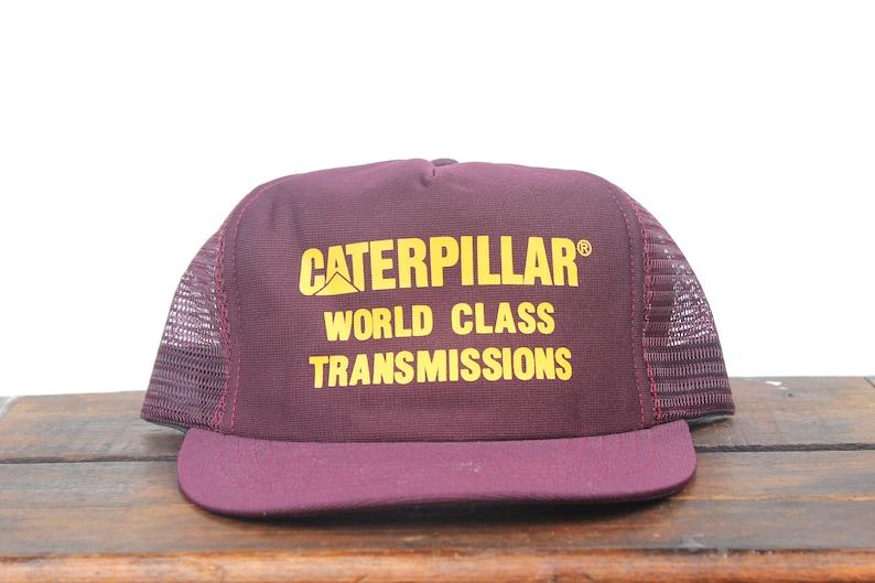 ea77f675d1340 Trucker Hat Vintage Snapback Hat Baseball Cap Caterpillar