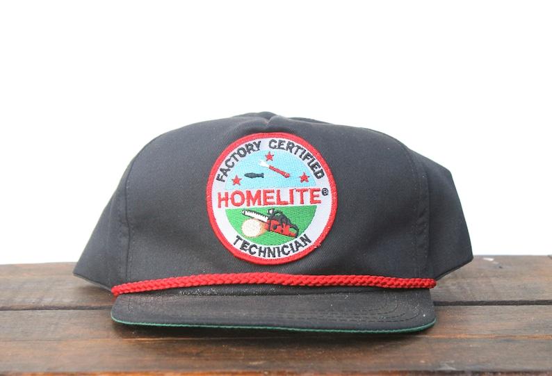 7cb90bdd0d2f7 Vintage Trucker Hat Snapback Hat Baseball Cap Homelite