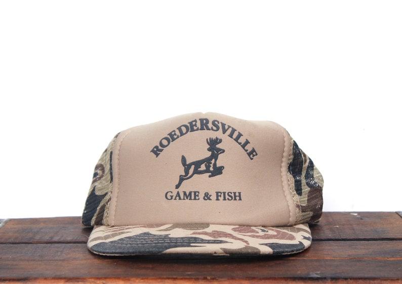 e2b7206bbe5e3 Vintage Trucker Hat Snapback Hat Baseball Cap Rodersville Game