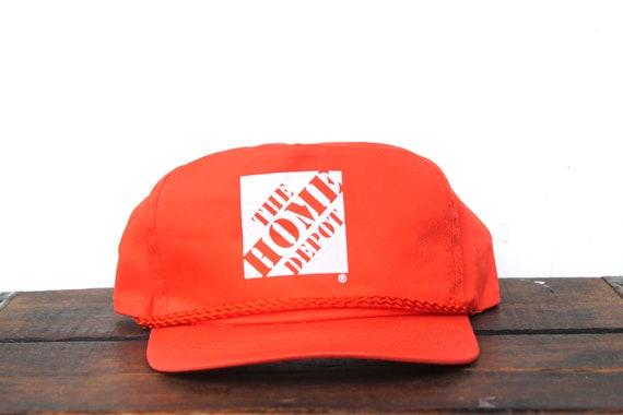 89a136135 Vintage The Home Depot Hardware Building Supply DIY Trucker Hat Snapback  Baseball Cap