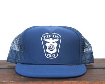 Vintage Trucker Hat Snapback Hat Baseball Cap Kirtland Police City Cops Law Enforcement Ohio Patch