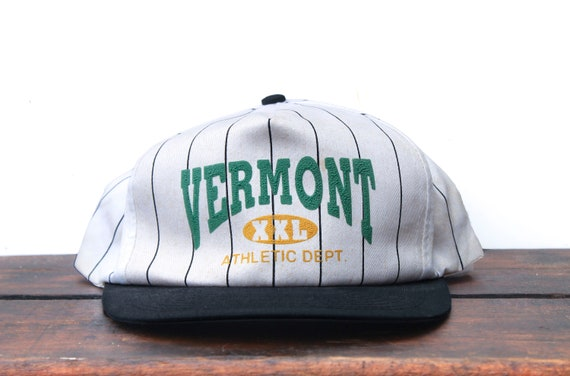Vintage Distressed Pinstripe Trucker Hat Snapback