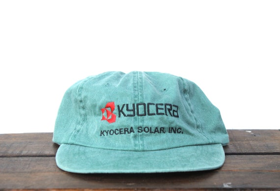 Vintage 90 s Washed Out Forest Green Kyocera Solar Panels  fe63b9ddc16